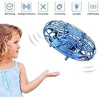 FORMIZON UFO Mini Drone, Mini Flying Toy Drone Handbediend, Kids Toy Hand Sensor Handbediend Eenvoudig Indoor Outdoor Flying Ball (Blauw)
