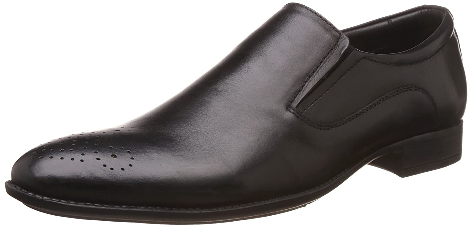7ec9e04892 BATA Men s Rickon Black Leather Formal Shoes - 9 UK India (43 EU)(8546304)   Buy Online at Low Prices in India - Amazon.in