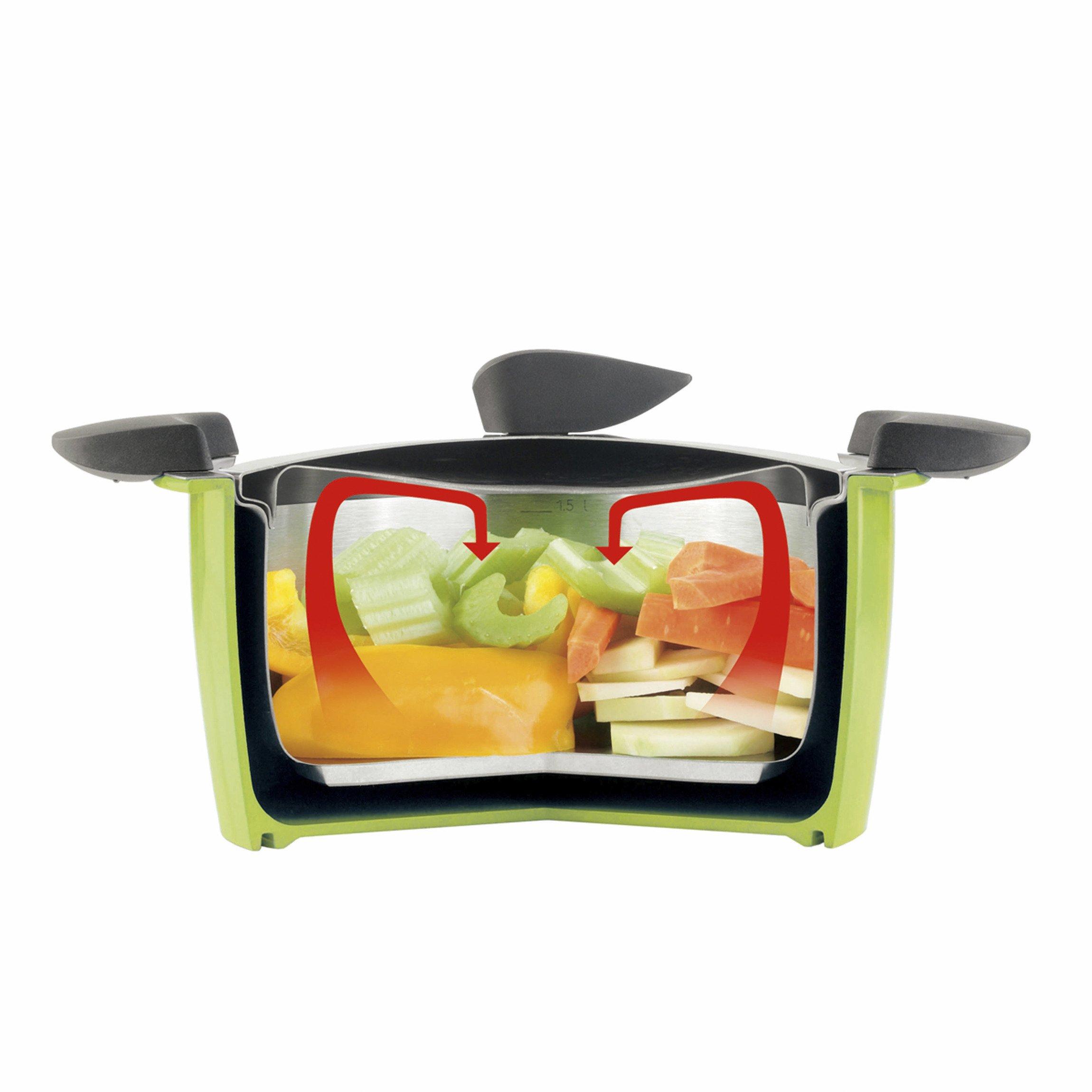 Kuhn Rikon''Hotpan'' 3L Kitchen Starter set, 8.66'', Green/Blue