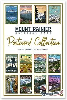 product image for Lantern Press Mount Rainier National Park - Postcard Set of 12 Different Original Hand Illustrated Postcards …