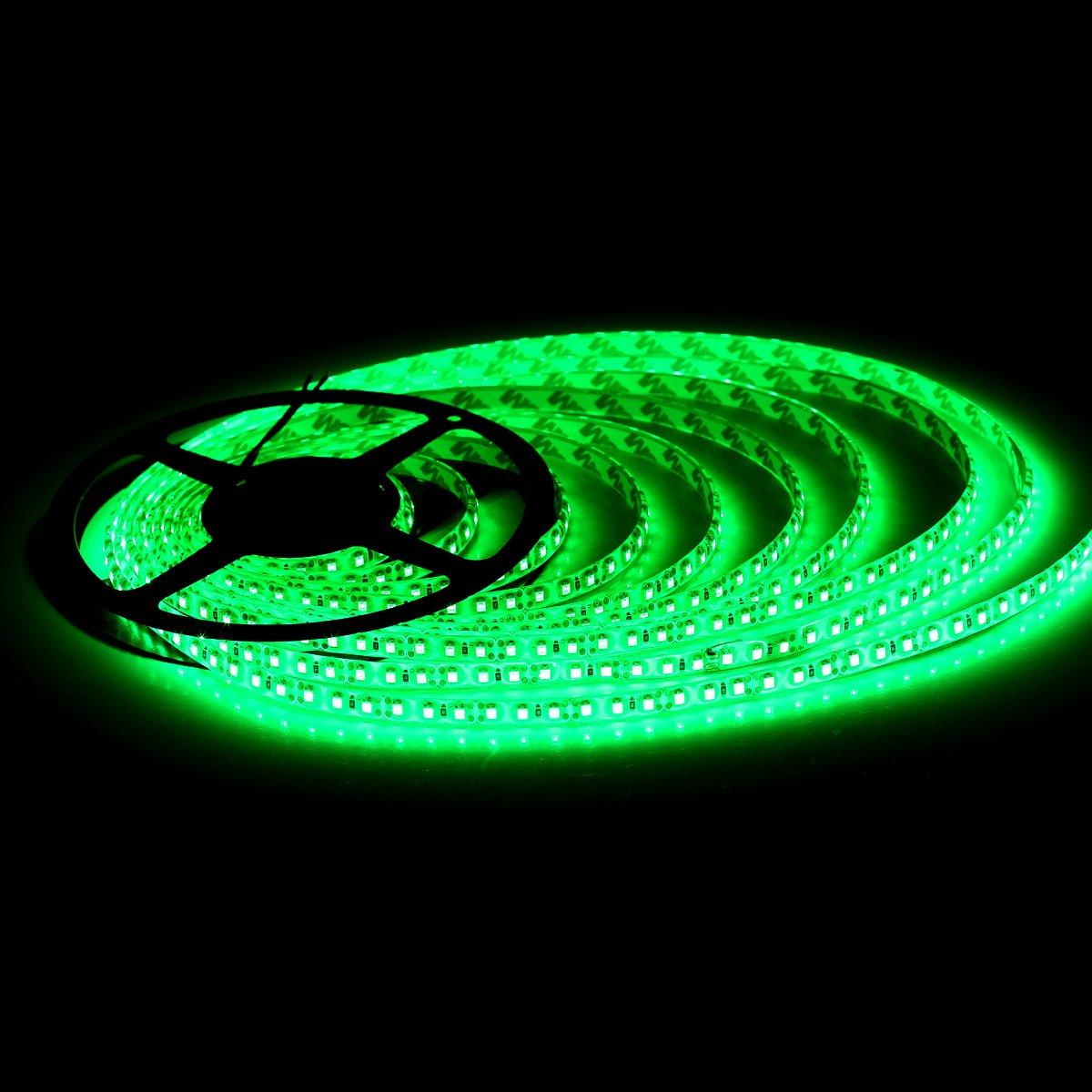 SUPERNIGHT High Density Green Waterproof Led Light Strip, SMD 3528, 5 Meter or 16 Ft LED Strip 120 Leds/M by SUPERNIGHT (Image #4)