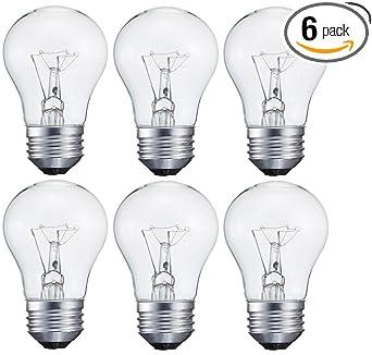 6 pack 15-Watt Decorative A15 Incandescent Light Bulb, Medium (E26 ...