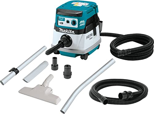 Makita XCV08Z 18V X2 LXT Lithium-Ion 36V Brushless Cordless 2.1 Gallon HEPA Filter Dry Dust Extractor Vacuum, with AWS, Tool Only