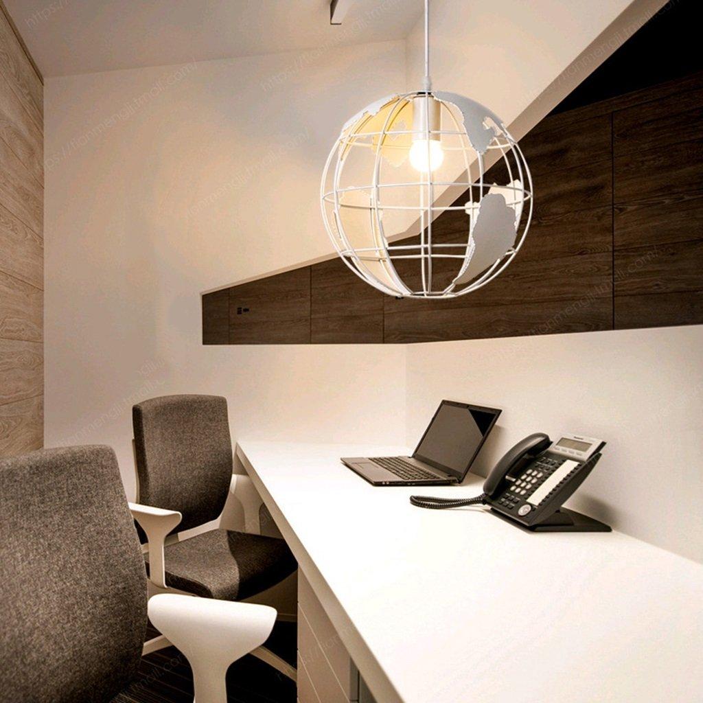 Kronleuchter Retro Kreative Loft Industrial Style Hanfseil Schmiedeeisen Globus Kronleuchter Restaurant Wohnzimmer Licht (Farbe   Weiß)