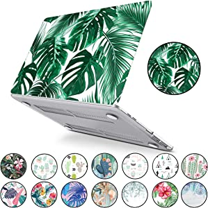 New MacBook Pro 13 inch A2159/A1706/A1708/A1989 PapyHall Tropical Palm Leaves Painted Hard Plastic Case Cover for MacBook Pro 13 inch Touch Bar 2019/2018/2017/2016 Release Green Palm Frond