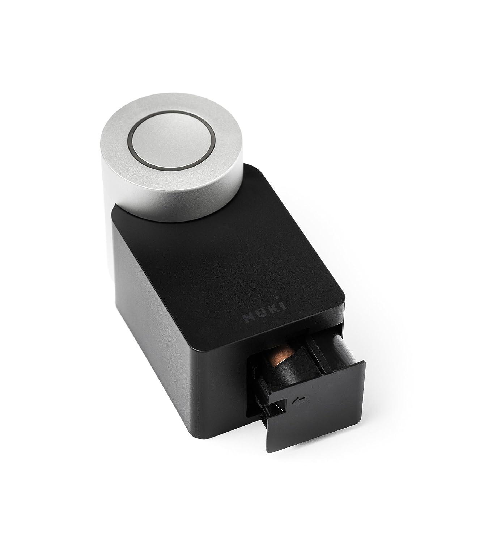 Nuki Smart Lock – Cerradura de puerta electrónica con Bluetooth, Apertura automática de la puerta mediante Smartphone, para iPhone y Android [Clase de ...