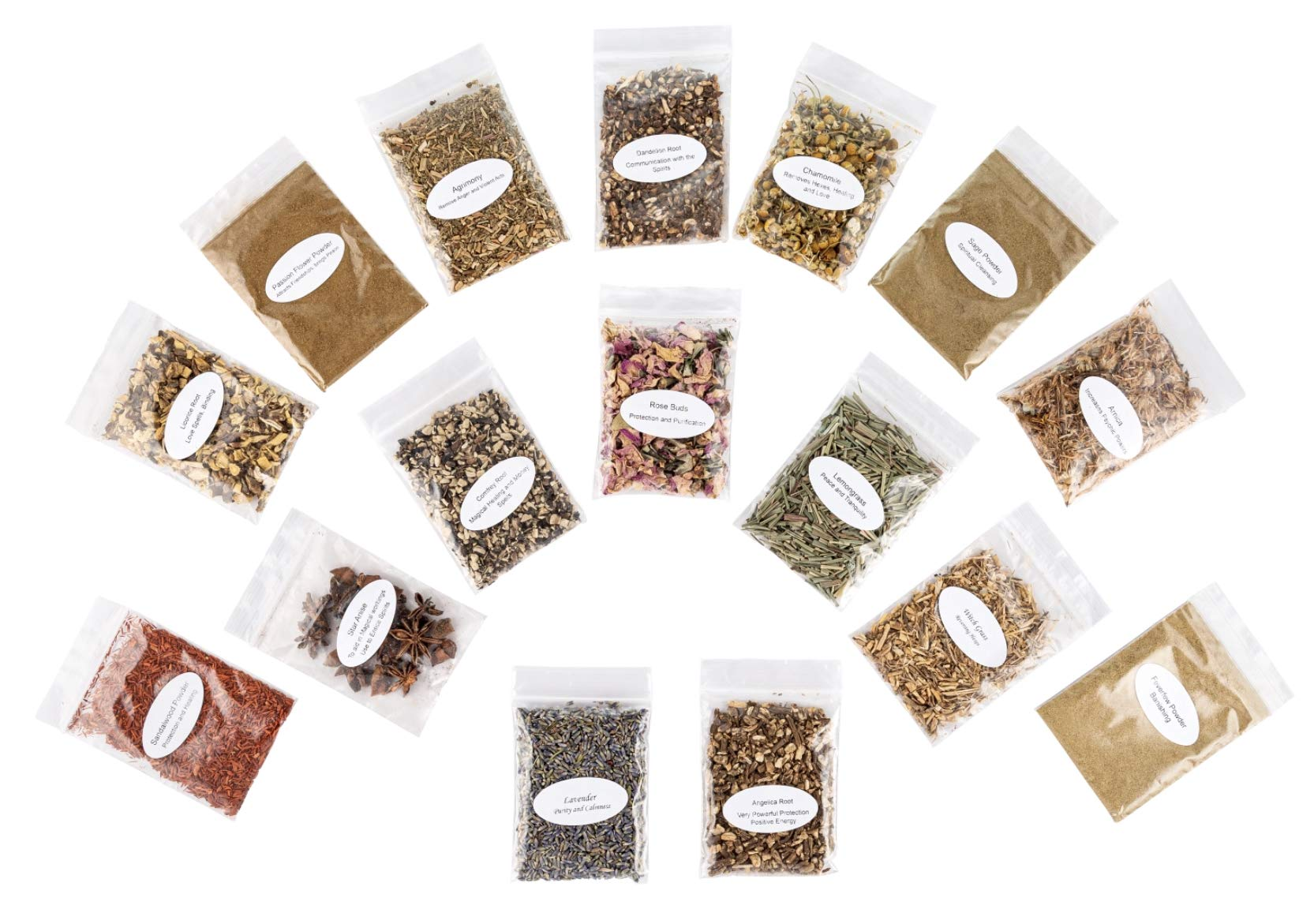 Enchanted Herbal Ritual Collection. Consisting of Powders, Herbs, Roots and Flowers