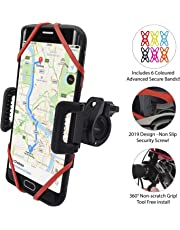 TruActive [NEW PREMIUM EDITION!] Anti-Shake Universal Bike Phone Holder Mount for Bicycle, Mountain Bike, Motorbike - 360° Rotate – iPhone. Samsung, Huawei, Google, etc. - 6 COLOURS INCLUDED!