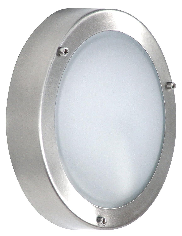 Smartwares 5000.321 Shannon Außenleuchte – Wand-/Deckenleuchte – Edelstahl und Glas – E14 Sockel Ranex GmbH