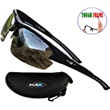 FLEX V1 – Polarized Sports Sunglasses for Men or Women, Tough TR90 Frame and 100% UV protection, Sports Sunglasses for Driving Ski Cycling Fishing Running Baseball Golf Biking and other Outdoor Activities.