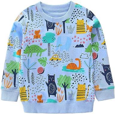 DHASIUE Sudadera de algodón Suave para niñas de 1 a 7 años: Amazon ...
