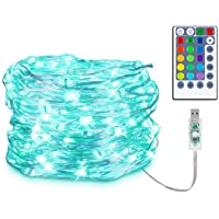 Koxly USB 16 Colors Fairy String Lights Multi Color Change Christmas Lights Remote 33ft 100 LEDs Waterproof Firefly…