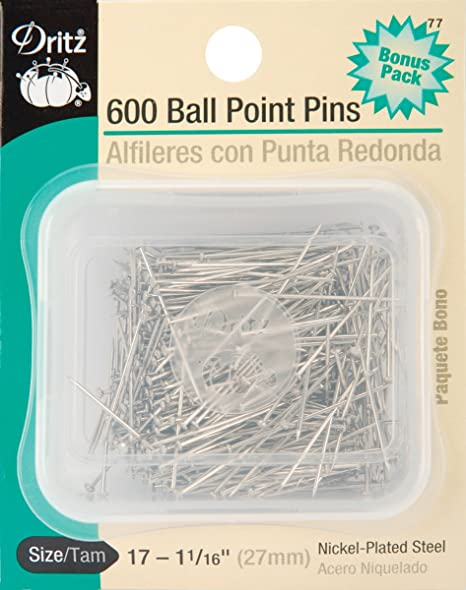 Dritz 12 Ball Point Pins 350-Count 1-1//16-Inch