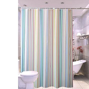 xiaojingLY Vorhänge,Badezimmer Undurchsichtig duschvorhang ...