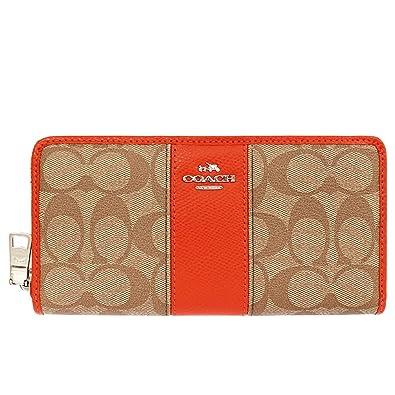 wholesale dealer 1a894 99c6f Amazon | [コーチ] COACH 財布 (長財布) F52859 カーキ×オレンジ ...