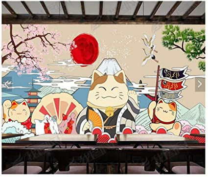 Mural Large Wallpaper Living Room Decoration Lucky Cat