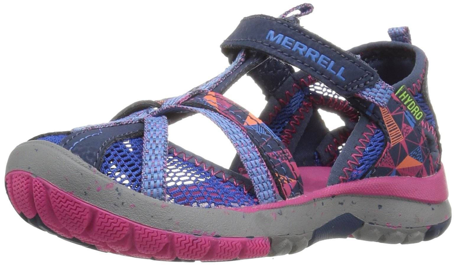 Merrell Hydro Monarch Water Sandal (Toddler/Little Kid/Big Kid), Navy, 4 M US Big Kid