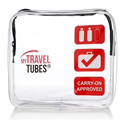 TSA Approved Clear Travel Toiletry Bag 3-1-1 Airline Carry On   Quart Sized