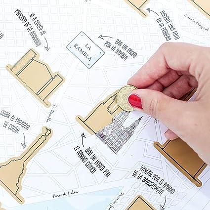Mapa para rascar Barcelona: Amazon.es: Oficina y papelería