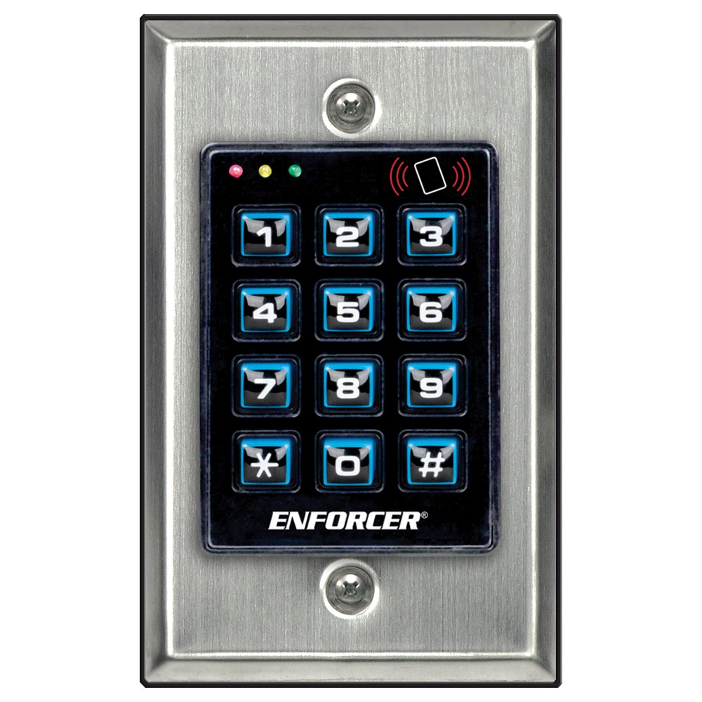 Seco-Larm Enforcer Access Control Keypad with Proximity Reader, Backlit (SK-1131-SPQ) by Seco-Larm