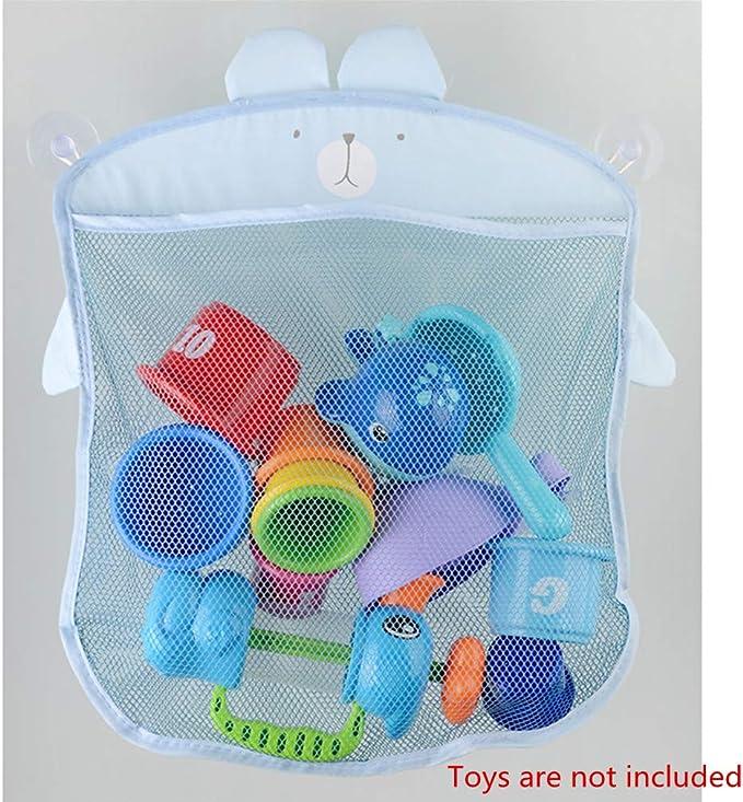 hou zhi liang Organizador de Ba/ño de Juguete Secado R/ápido Ba/ñera Bolsa de Red de Malla Juguete de Bebe Bolsa de Almacenamiento Estante de Juguete con Ventosas por SamGreatWorld Azul