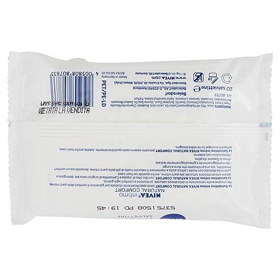 Set 12 NIVEA jabón limpieza íntima toallitas 20 Piezas Cuidado Corporal: Amazon.es: Salud y cuidado personal