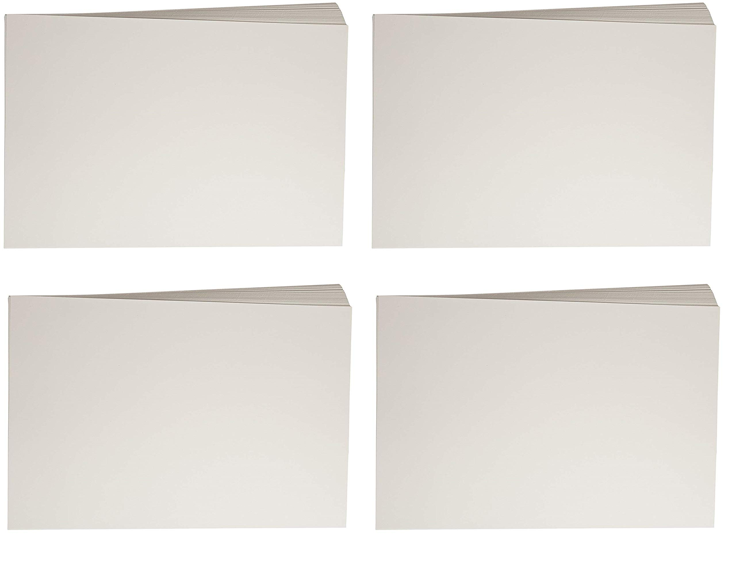 Sax Watercolor Beginner Paper, 90 lbs, 12 x 18 Inches, Natural White (4 X Pack of 100)