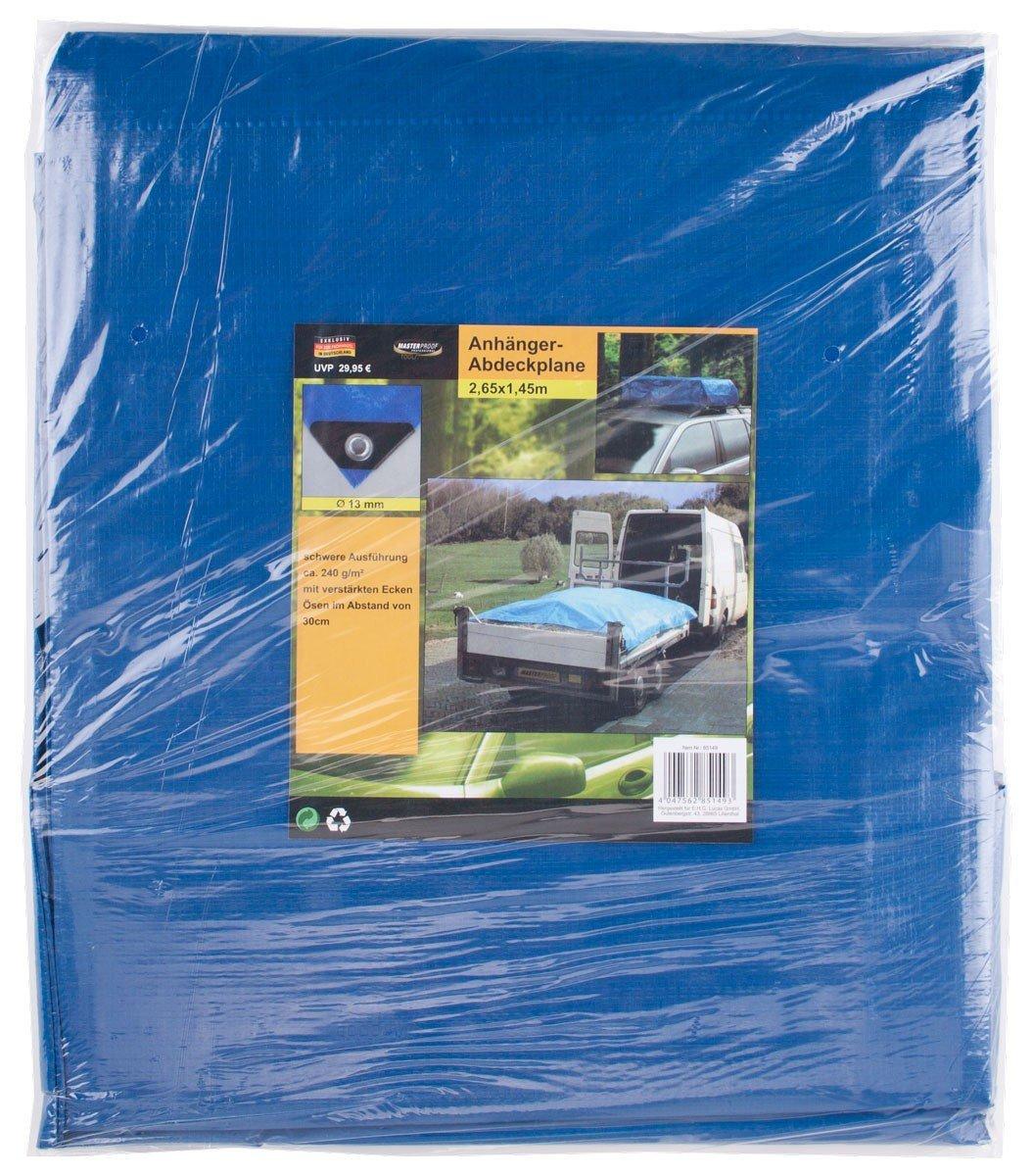 Masterproof - Lona para remolques, 3,15 x 1,65 m, color azul EHG Lucas