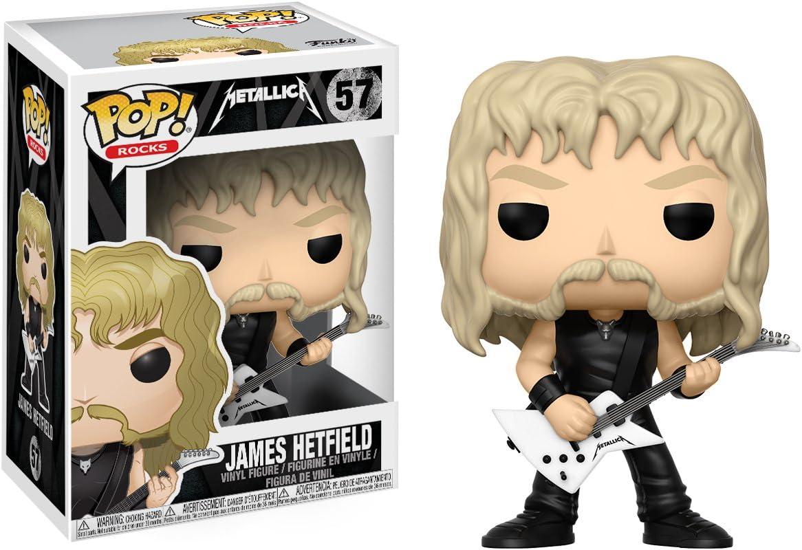 Funko Pop! - Figura James Hetfield, colección Metallica 13806: Amazon.es: Juguetes y juegos