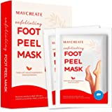 Maycreate Foot Peel Mask For Cracked Heels, Dead Skin & Calluses, Exfoliating Peeling Natural Treatment, Make Your Feet Baby