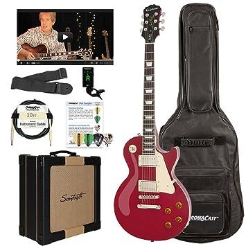 Epiphone Les Paul Standard solid-body Kit de Guitarra Eléctrica con dientes serrados de amplificador