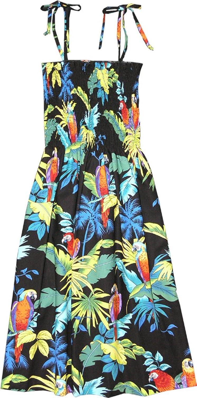 157baca3fe RJC Women s Tropical Parrots Hawaiian Smocked Sundress at Amazon Women s  Clothing store