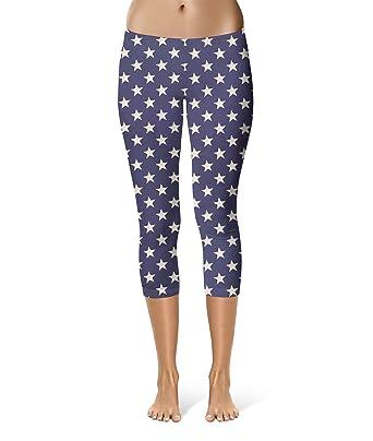 942aefe4d8 Navy Stars Capri Leggings for Women Sizes XS-3XL Capri 3/4 Length ...