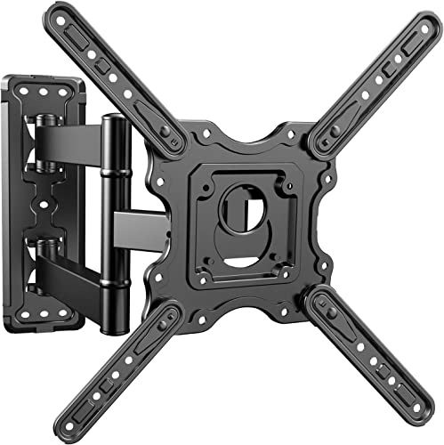 PERLESMITH Heavy Duty TV Wall Mount for Most 32-55 Inch Flat Curved TVs with Swivels Tilts Extends – Full Motion TV Mount Fits LED, LCD, OLED 4K TVs Up to 88 lbs Max VESA 400×400 Renewed