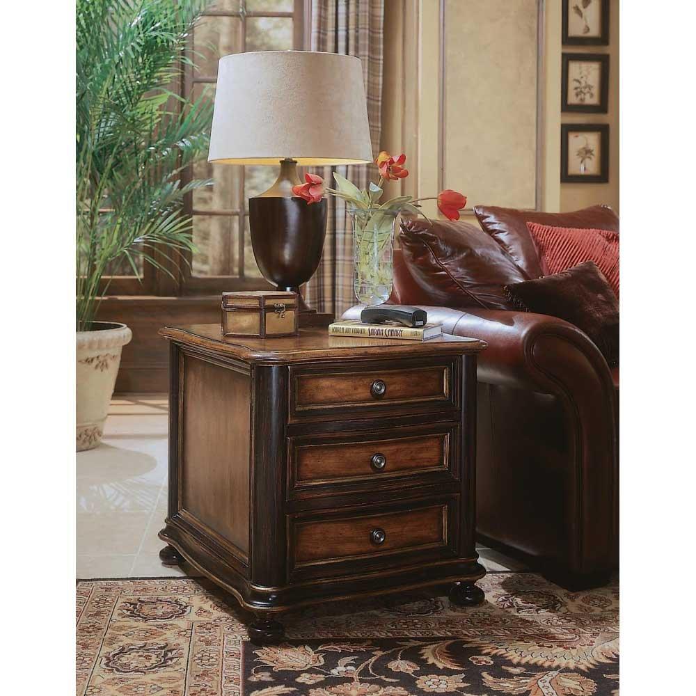 Amazon.com: Hooker Furniture Preston Ridge Wood Top 3 Drawer Chairside  Chest: Kitchen U0026 Dining