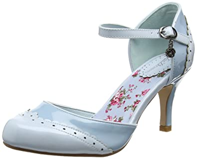 Joe Browns 42nd St Patent Shoes, Escarpins Bride Cheville Femme, (Blue A), 36 EU
