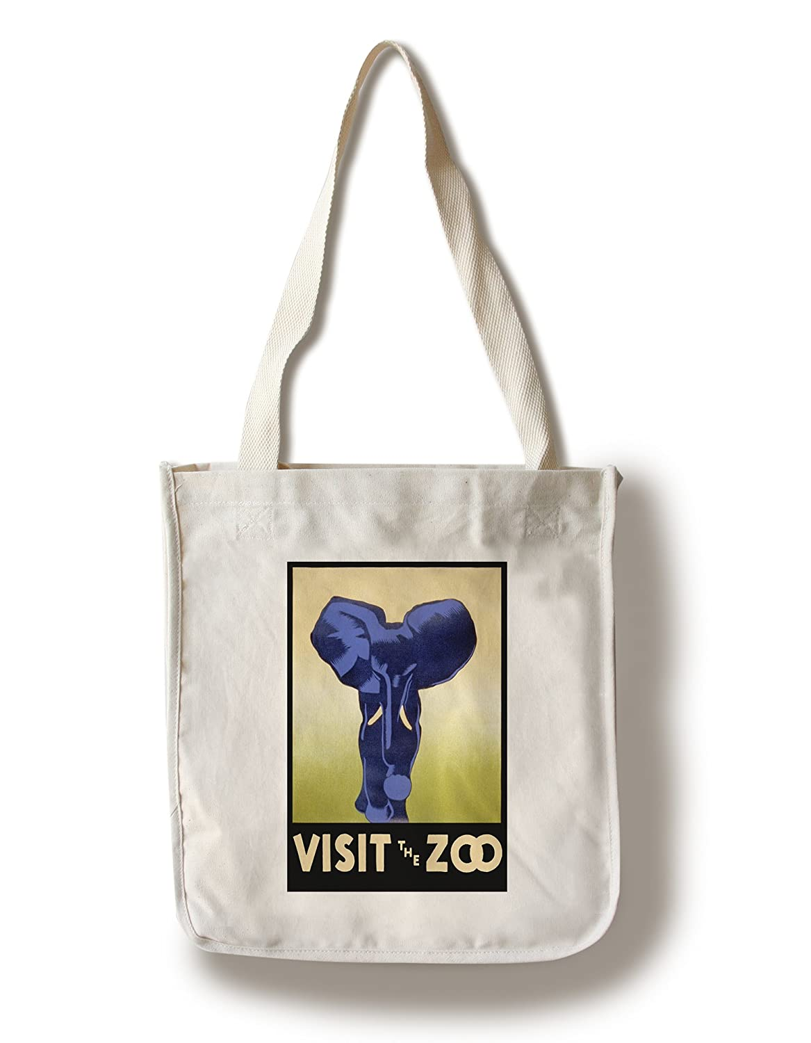 Visit the動物園 – 象充電 Canvas Tote Bag LANT-31799-TT B01841RLWG  Canvas Tote Bag