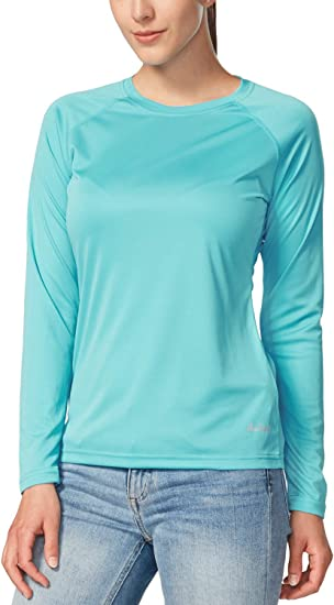 Femme t-shirt à manches longues UV Protection Solaire 50 Bambou Coton Premium Mélangé