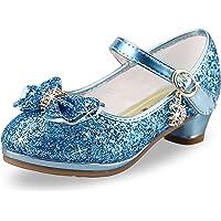 Zapatos Princesa Lentejuelas Niña Zapatosde Tacon Niñas Sandalias de Fiesta Nina