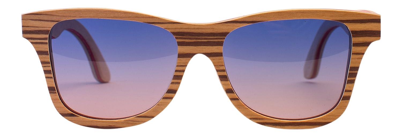 Emolly Fashion Skateboard Wood Sunglasses Polarized Handmade with Bamboo Case