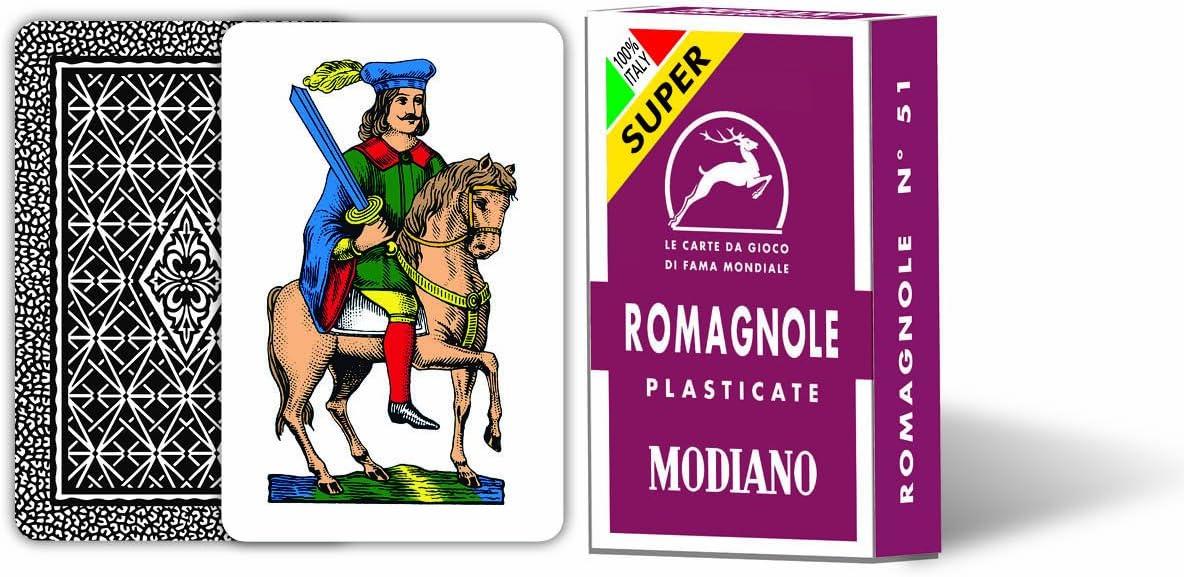 MODIANO Carte da gioco Romagnole 51 Bordeaux Super
