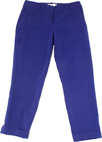 Amazon Com Tahari Petite Pantalones De Vestir Para Mujer Talla 0p Color Azul Clothing