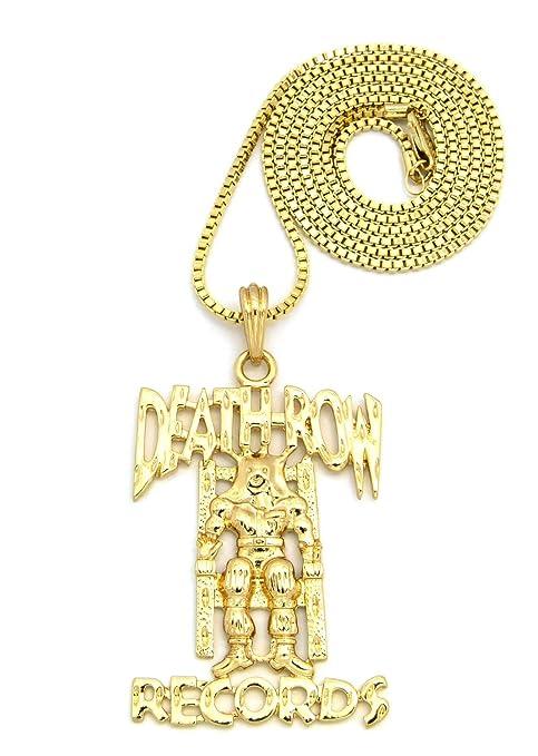 Death row records mini pendant in gold tone w 2mm 24 box chain death row records mini pendant in gold tone w 2mm 24quot box chain rc219g aloadofball Choice Image