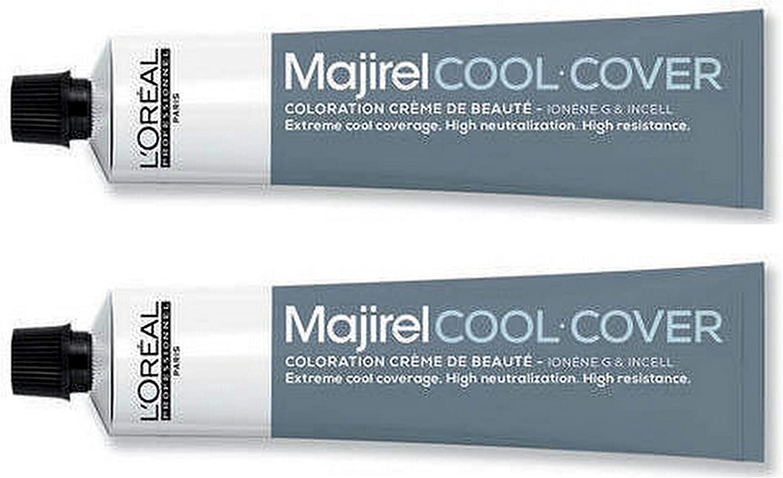 Loreal Majirel Cool Cover 6 - Tinte para el cabello (rubio oscuro, 2 x 50 ml)