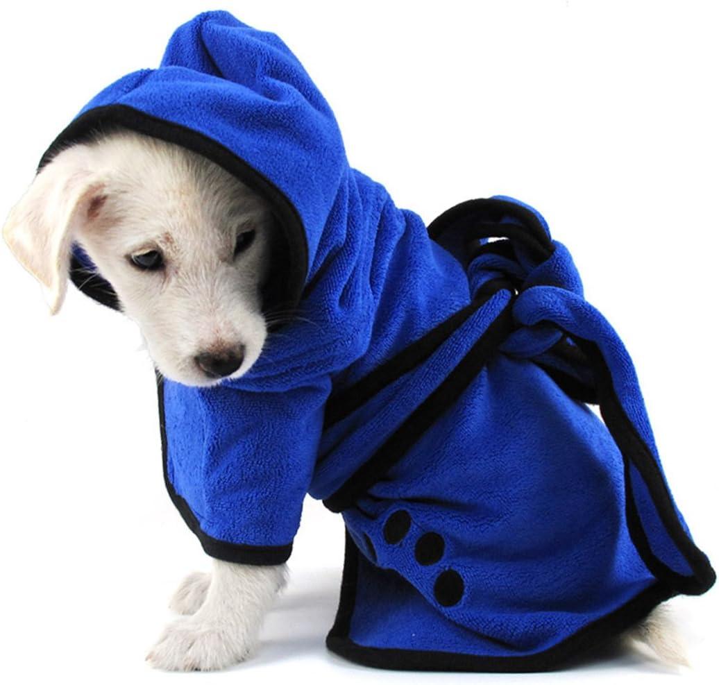 PETCUTE Albornoz para Perros Toalla Perro Microfibra Secado rápido Pijamas Albornoz Microfibra para Perros Tamaño Medianos