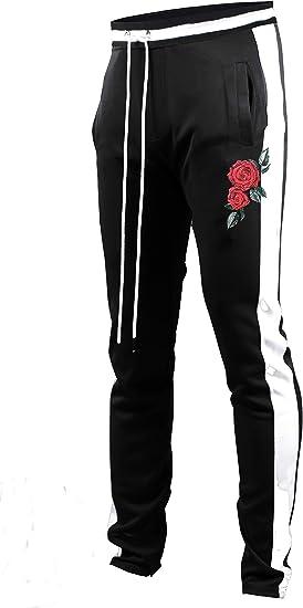 Men Slim Striped Tracksuit Trousers Training Joggers Sports Pants Slacks Bottoms