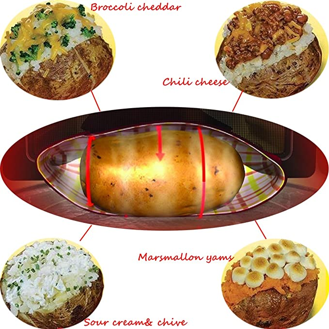 3 PCS Patata Microondas Bolsa Potato Express Pouch Lavable ...