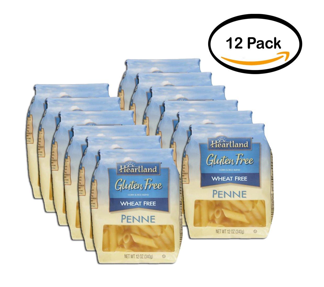 PACK OF 12 - Heartland Gluten-Free Penne Pasta, 12 oz by HEARTLAND