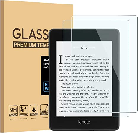 "2 Kindle Paperwhite 1 3 E-reader 6/"" Tempered Glass Screen Protector 2-Pack"