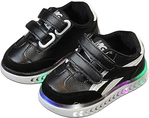 GLF Children Kids Boys Girls Luminous Sneakers LED Light Up Running Shoes New